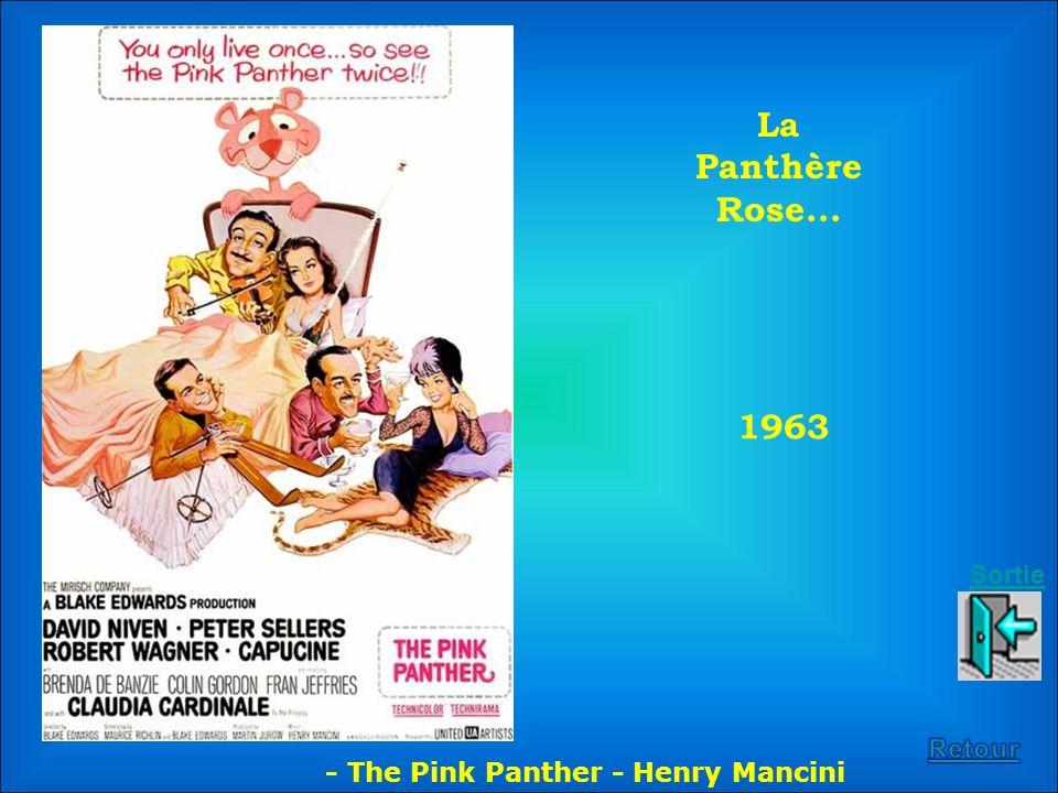 La Panthère Rose... 1963 Sortie Retour