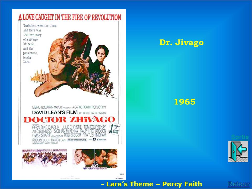 Dr. Jivago 1965 Sortie - Lara's Theme – Percy Faith Retour