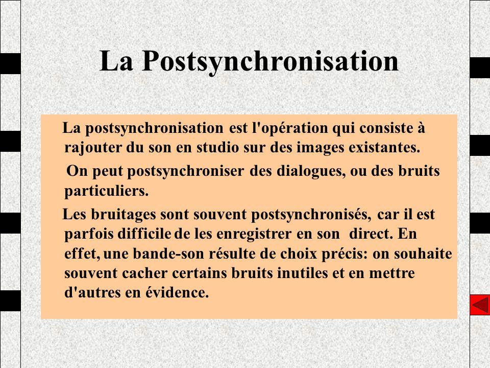 La Postsynchronisation
