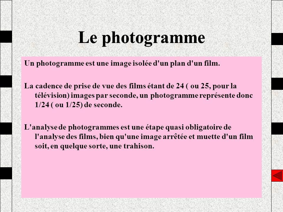 Le photogramme Le photogramme