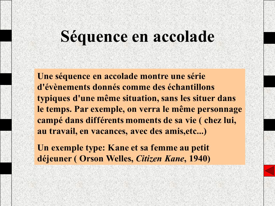 Séquence en accolade