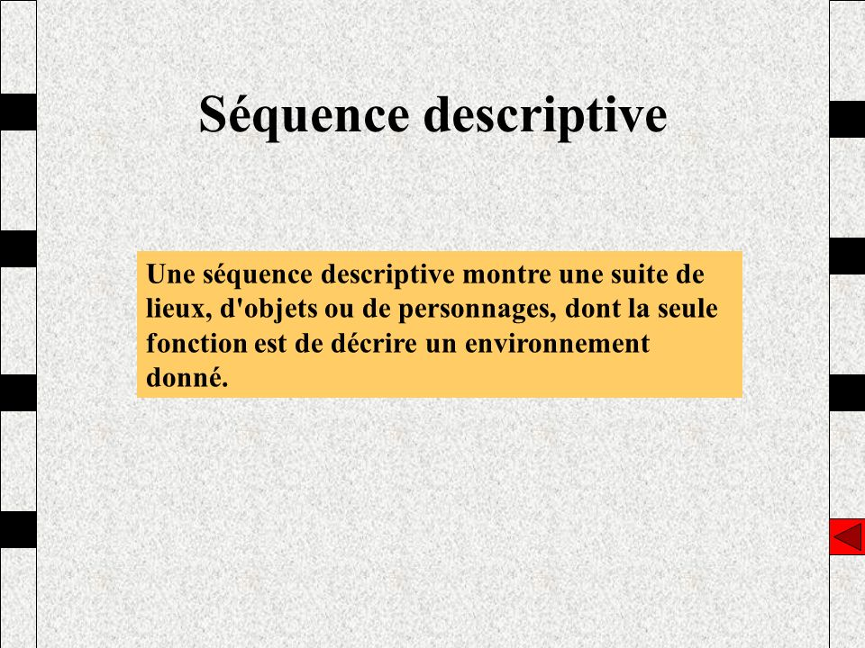 Séquence descriptive