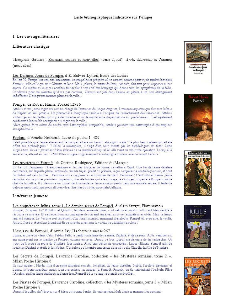 Liste bibliographique indicative sur Pompéi