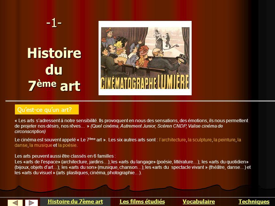 -1- Histoire du 7ème art Qu'est-ce qu'un art Histoire du 7ème art