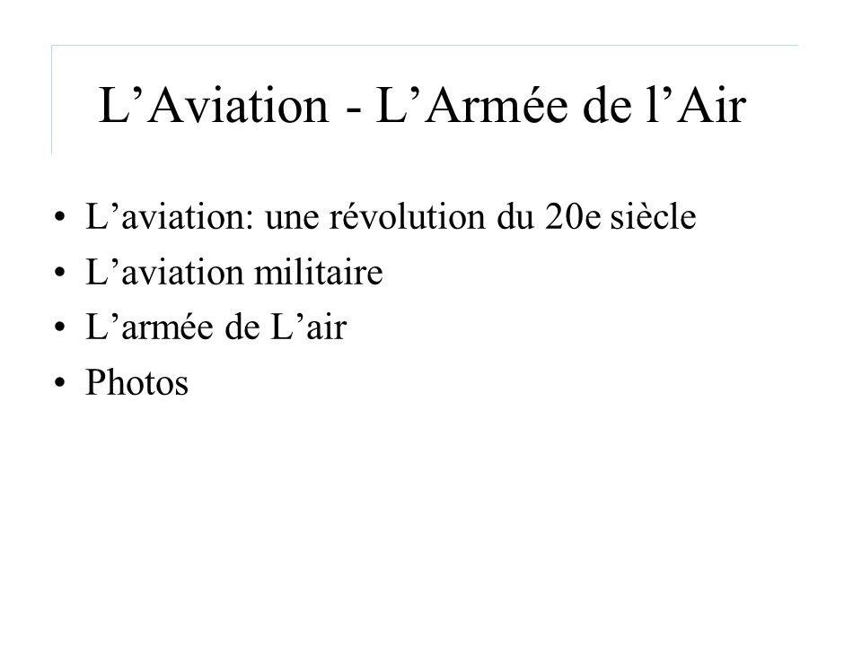 L'Aviation - L'Armée de l'Air