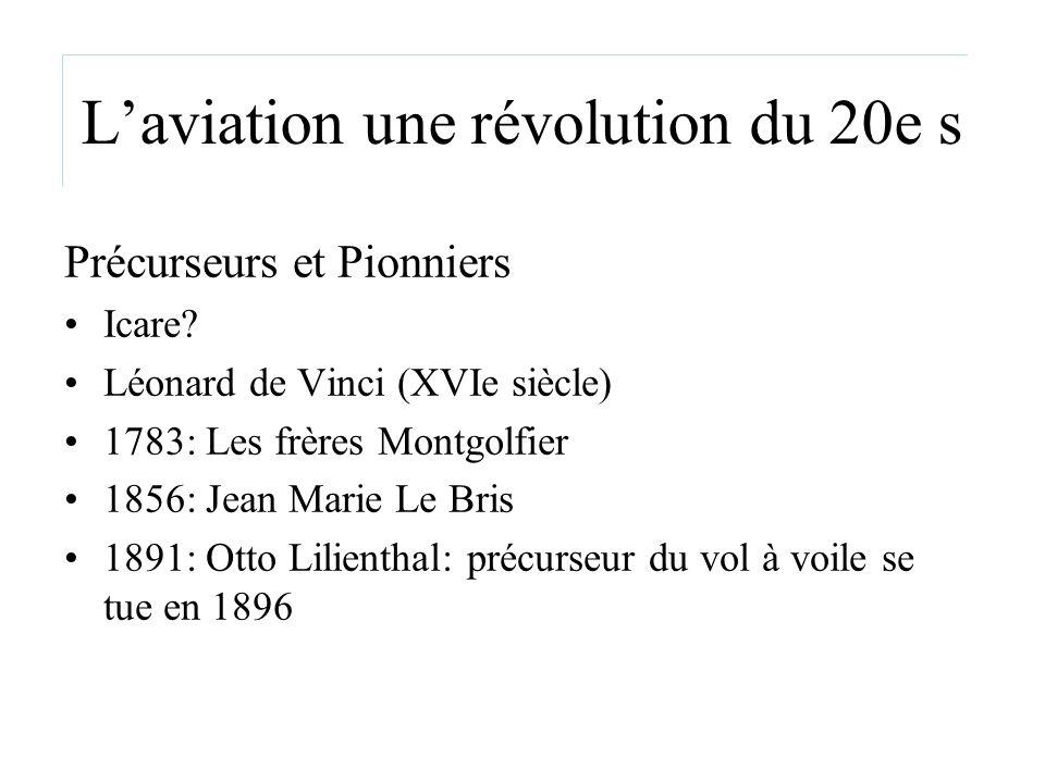 L'aviation une révolution du 20e s
