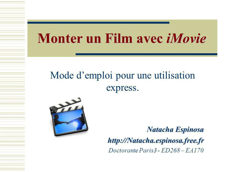Monter un Film avec iMovie