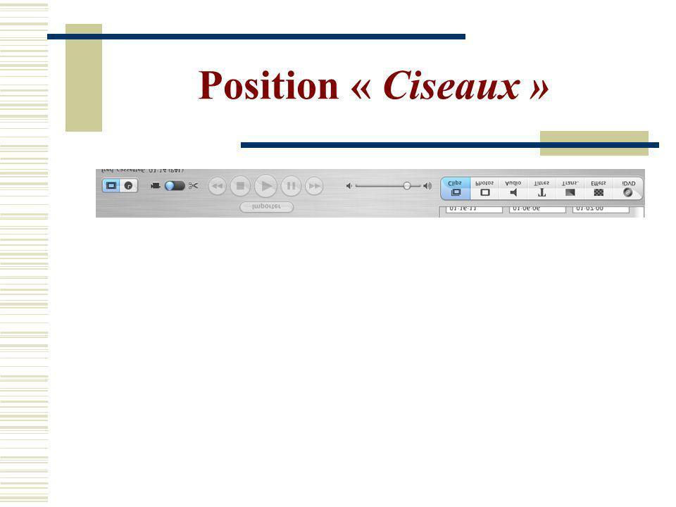 Position « Ciseaux »