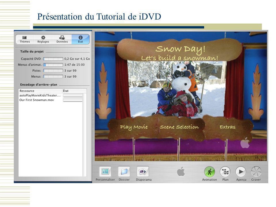 Présentation du Tutorial de iDVD