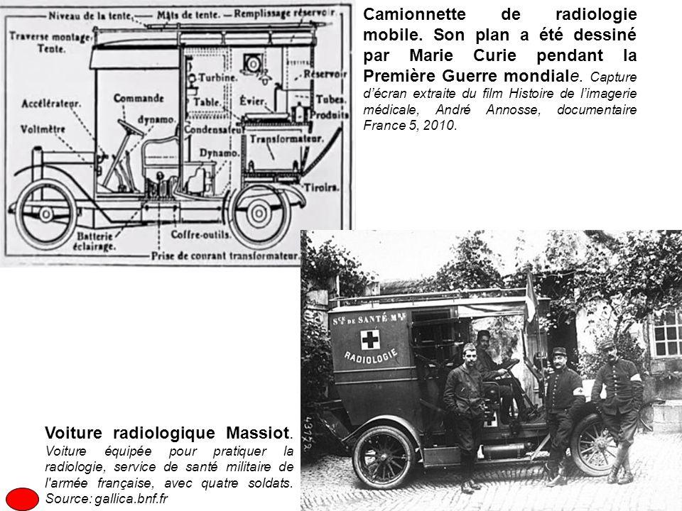 Camionnette de radiologie mobile