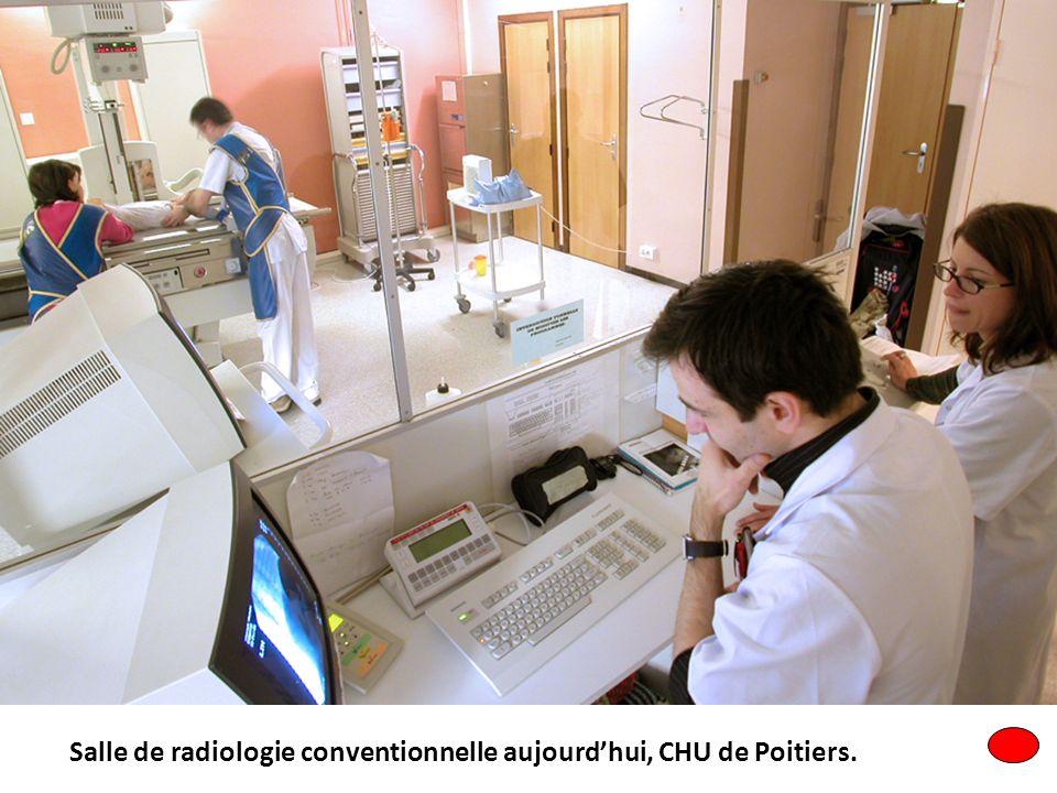 Salle de radiologie conventionnelle aujourd'hui, CHU de Poitiers.