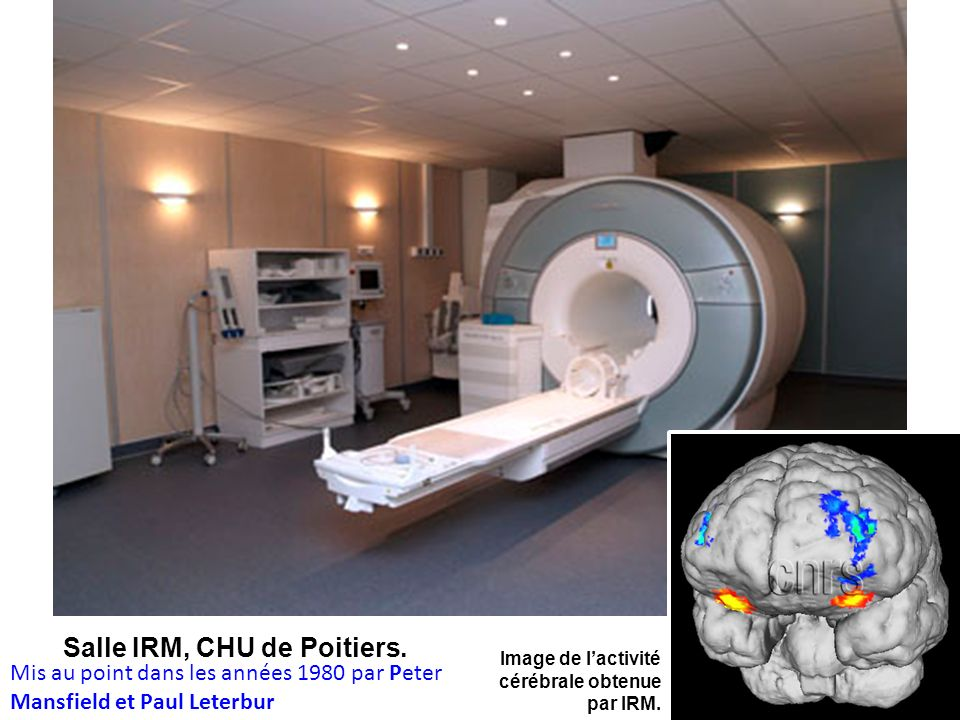 Salle IRM, CHU de Poitiers.