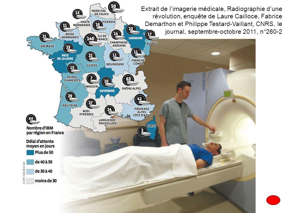 Extrait de l'imagerie médicale, Radiographie d'une révolution, enquête de Laure Cailloce, Fabrice Demarthon et Philippe Testard-Vaillant, CNRS, le journal, septembre-octobre 2011, n°260-2