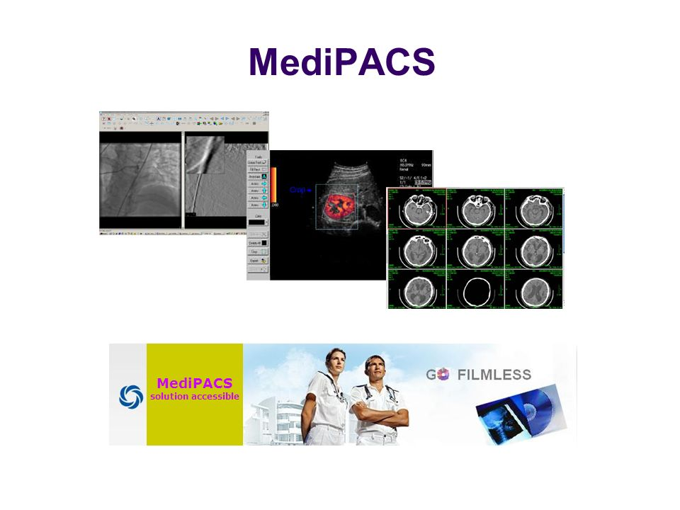 MediPACS solution accessible