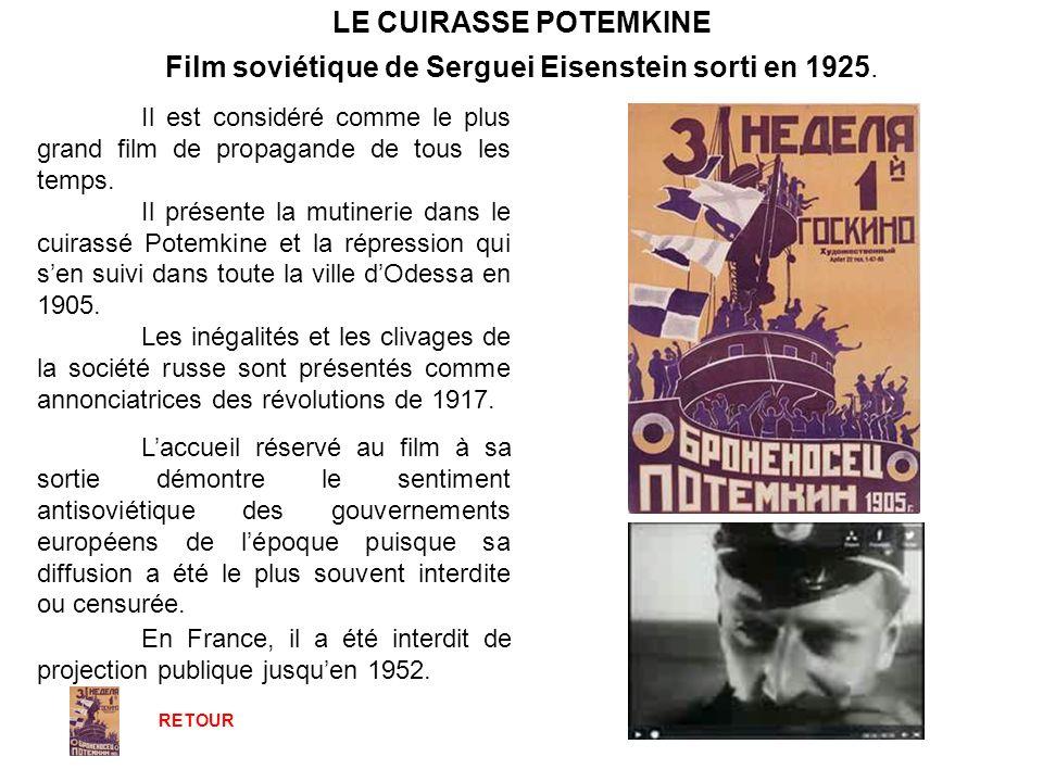 Film soviétique de Serguei Eisenstein sorti en 1925.