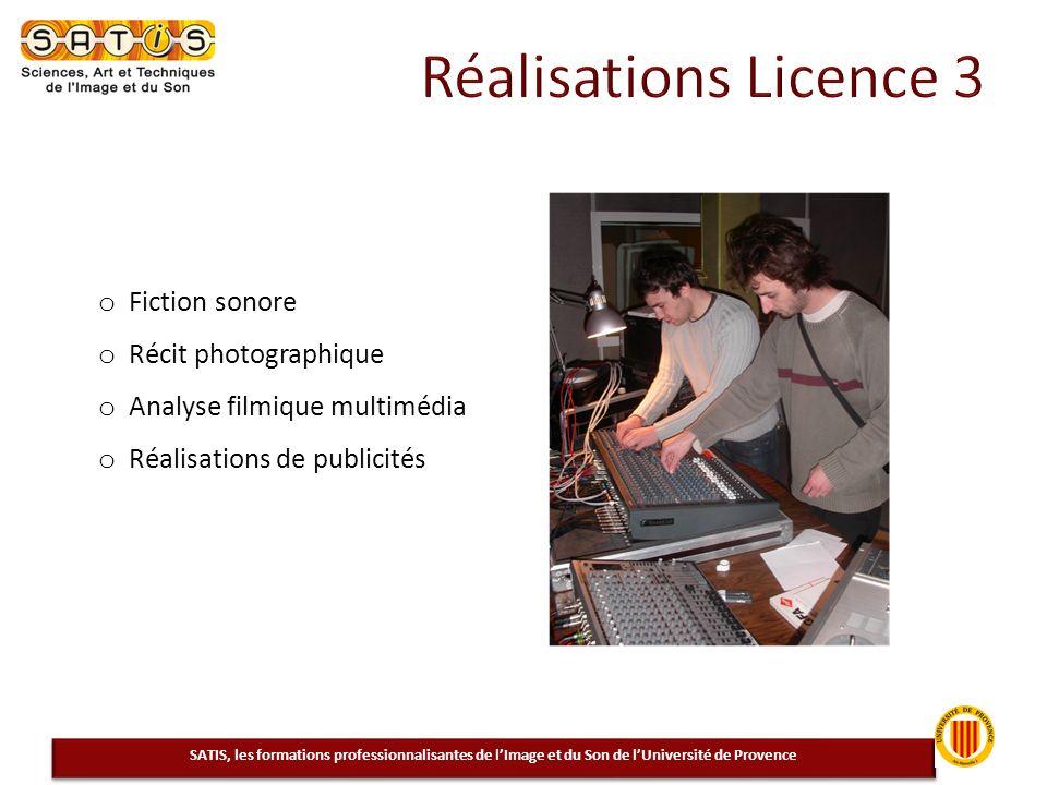 Réalisations Licence 3 Fiction sonore Récit photographique