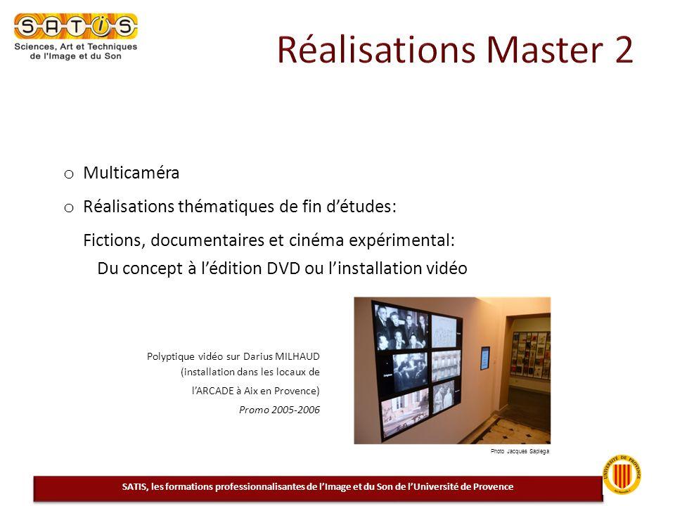 Réalisations Master 2 Multicaméra