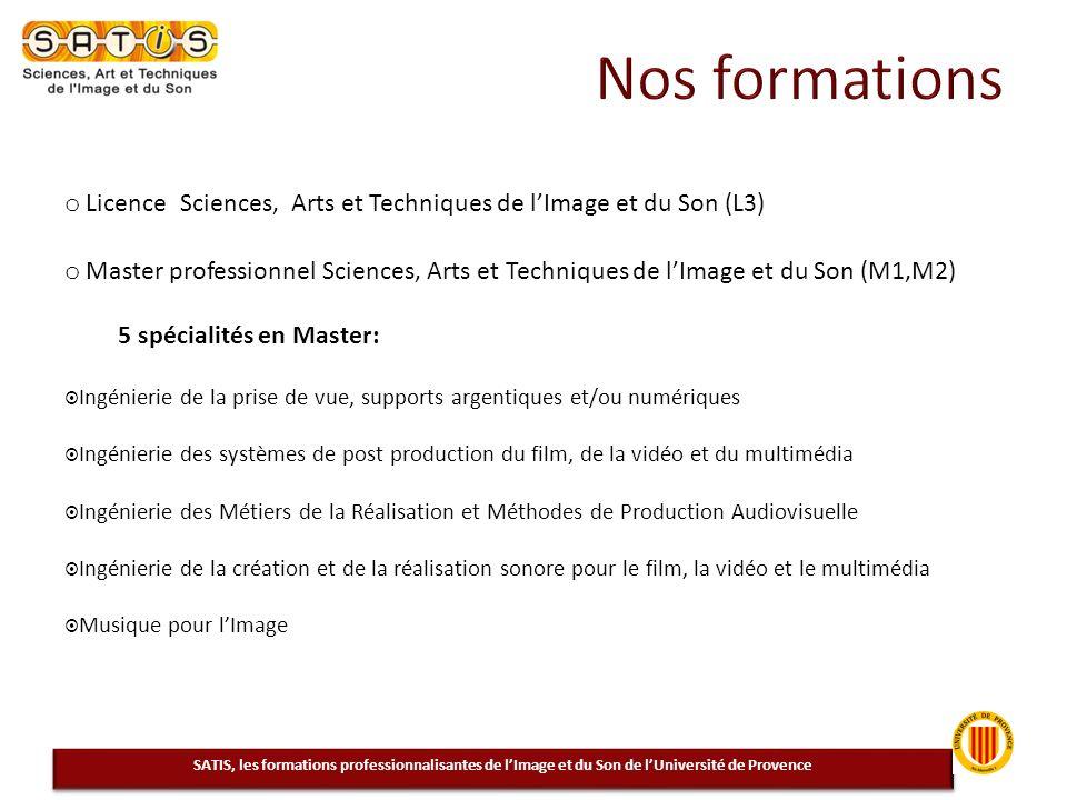 Nos formations Licence Sciences, Arts et Techniques de l'Image et du Son (L3)