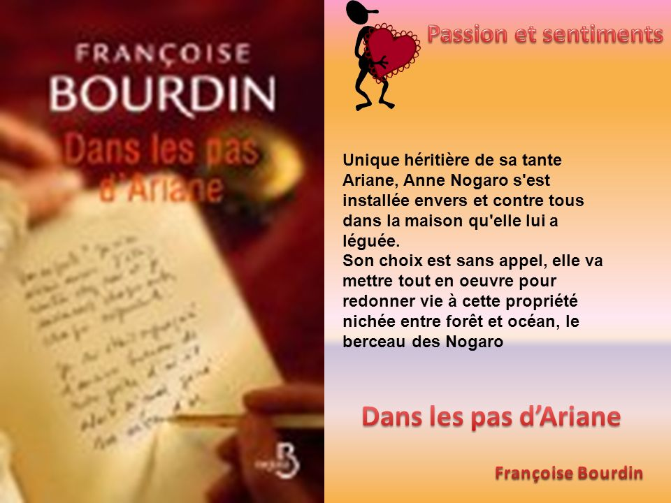 Dans les pas d'Ariane Passion et sentiments Françoise Bourdin