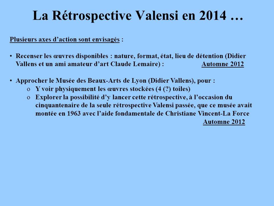 La Rétrospective Valensi en 2014 …