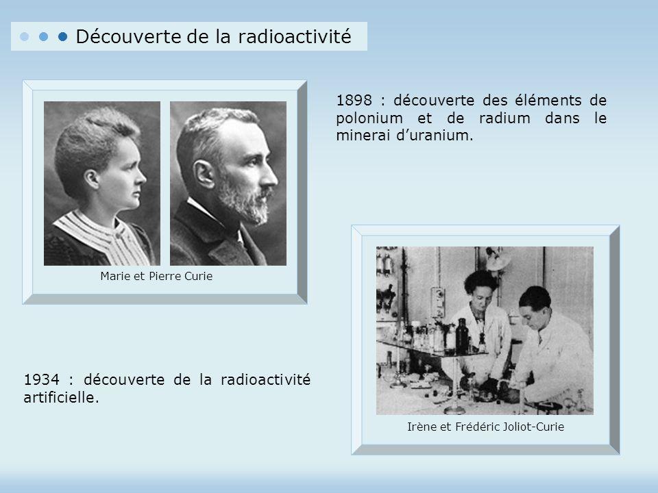 • • • Découverte de la radioactivité