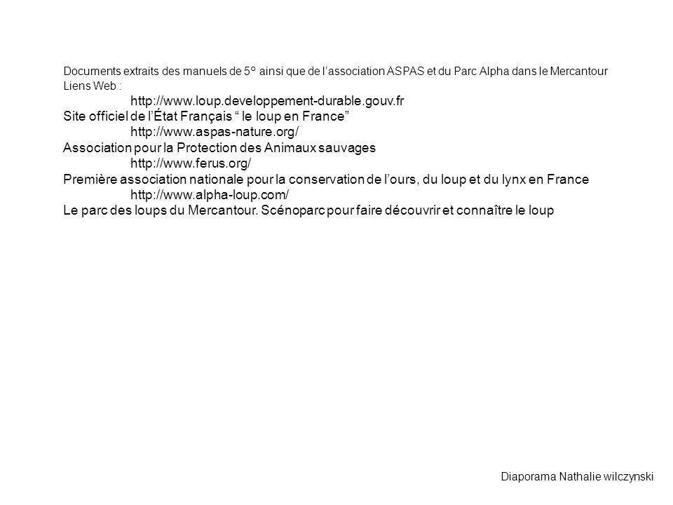 Site officiel de l'État Français le loup en France