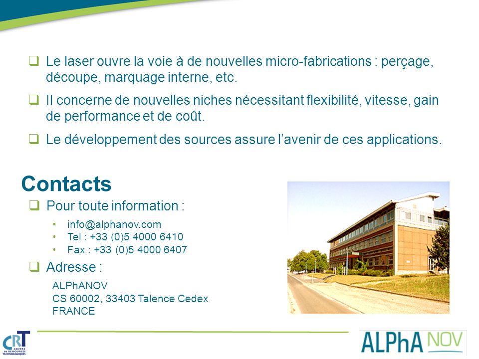 Le laser ouvre la voie à de nouvelles micro-fabrications : perçage, découpe, marquage interne, etc.