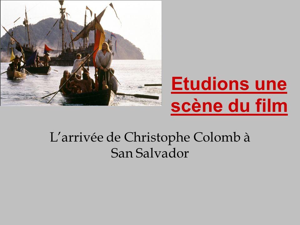 L'arrivée de Christophe Colomb à San Salvador
