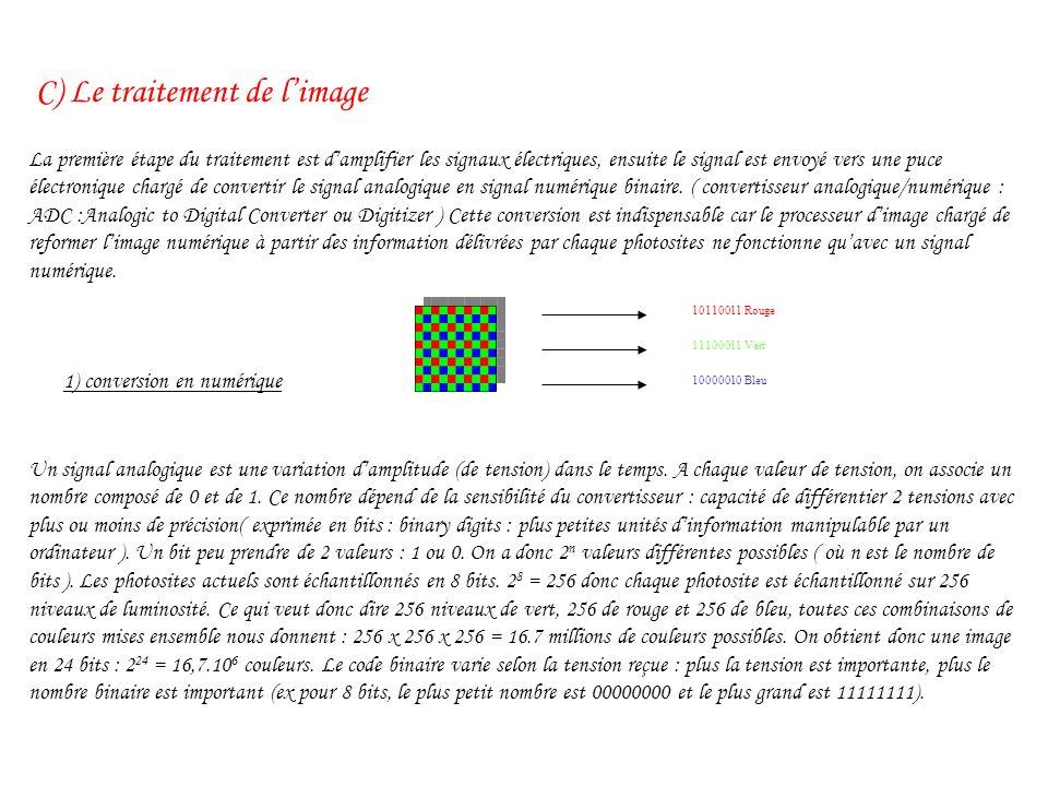 C) Le traitement de l'image