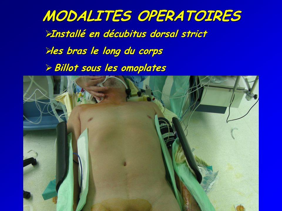 MODALITES OPERATOIRES