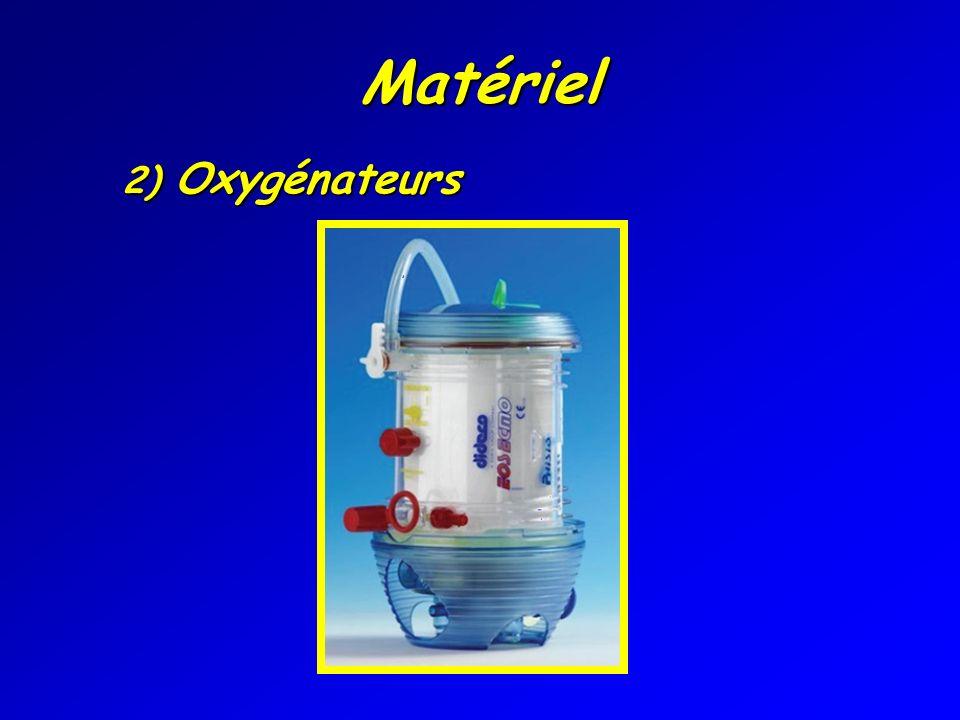 Matériel 2) Oxygénateurs Oxygénateur.