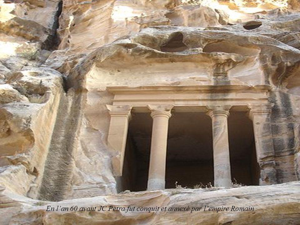 En l'an 60 avant JC Petra fut conquit et annexé par l'empire Romain