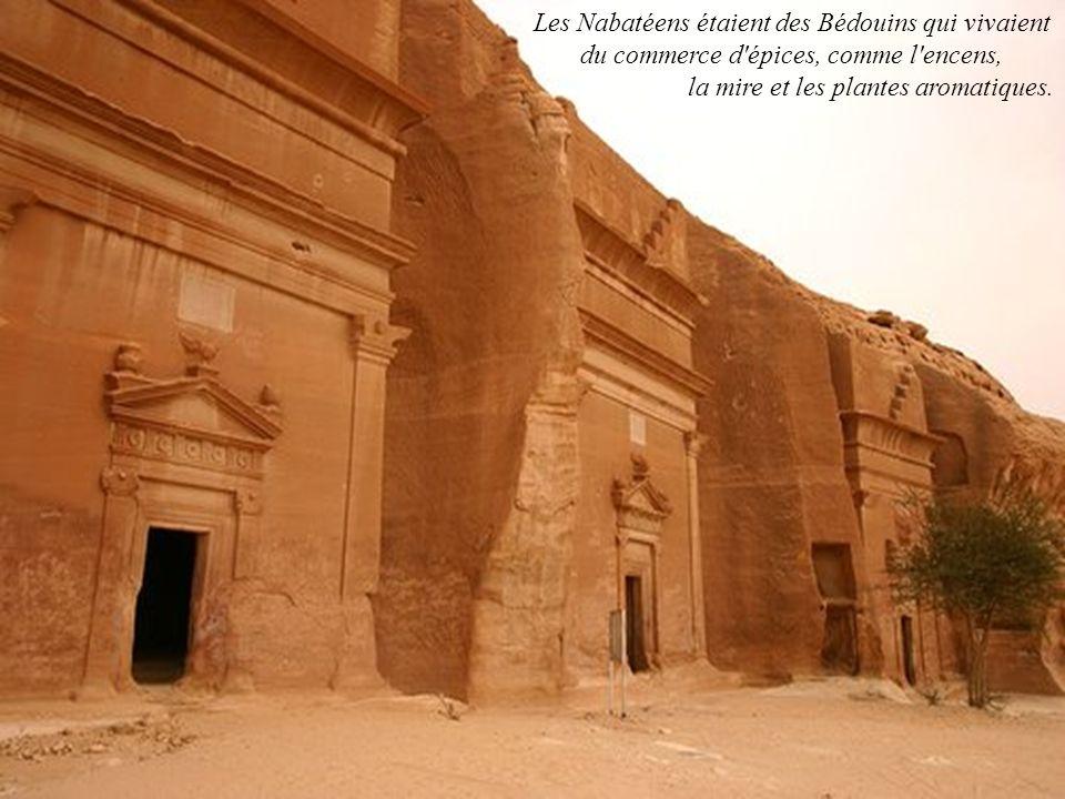 Les Nabatéens étaient des Bédouins qui vivaient du commerce d épices, comme l encens,