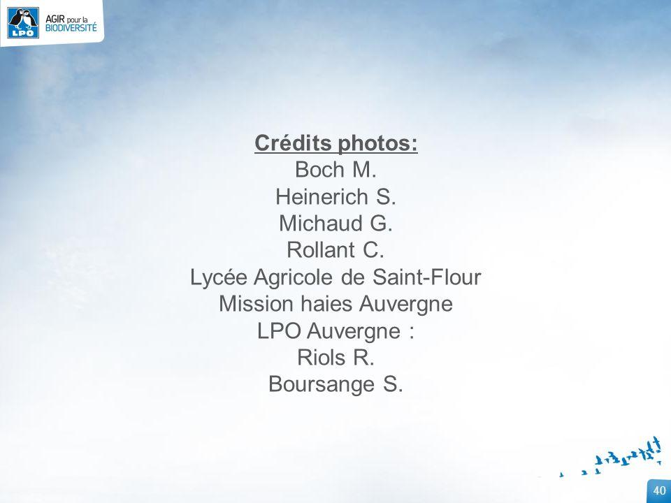 Lycée Agricole de Saint-Flour Mission haies Auvergne LPO Auvergne :