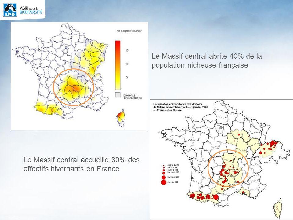 Le Massif central abrite 40% de la population nicheuse française