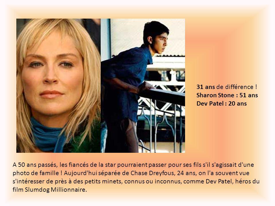31 ans de différence ! Sharon Stone : 51 ans Dev Patel : 20 ans