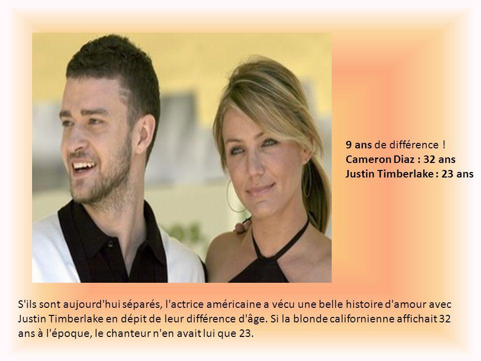 9 ans de différence ! Cameron Diaz : 32 ans Justin Timberlake : 23 ans
