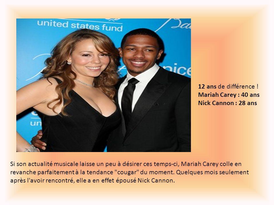 12 ans de différence ! Mariah Carey : 40 ans Nick Cannon : 28 ans