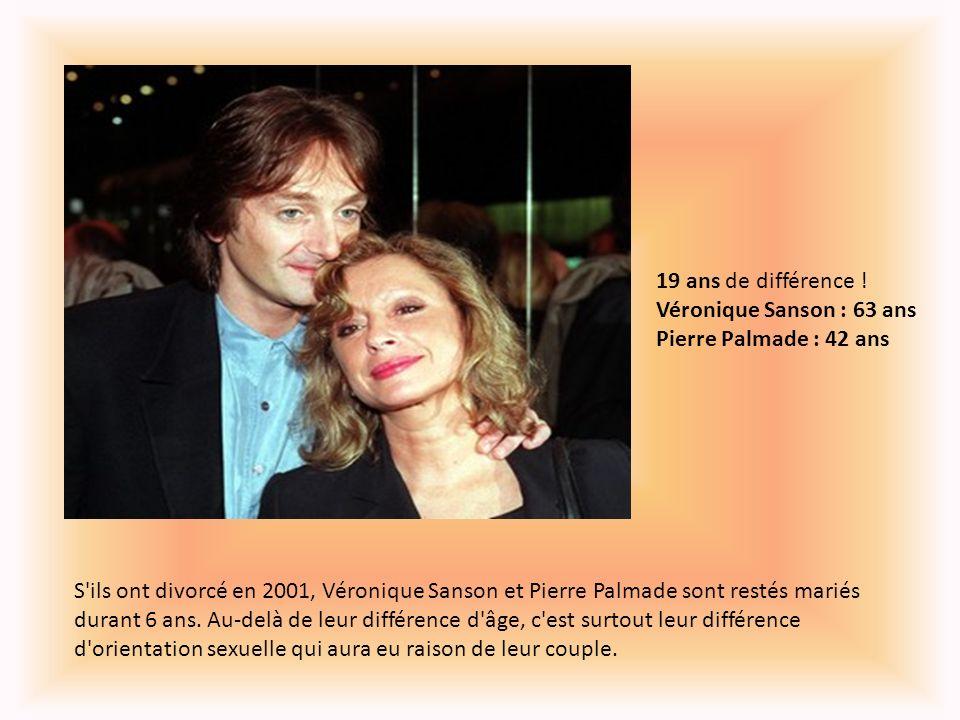 19 ans de différence ! Véronique Sanson : 63 ans Pierre Palmade : 42 ans