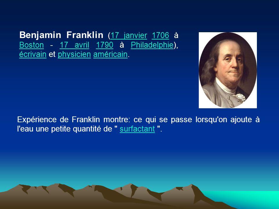 Benjamin Franklin (17 janvier 1706 à Boston - 17 avril 1790 à Philadelphie), écrivain et physicien américain.