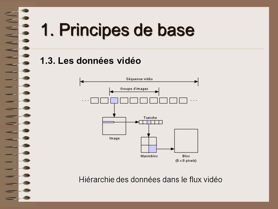 Hiérarchie des données dans le flux vidéo