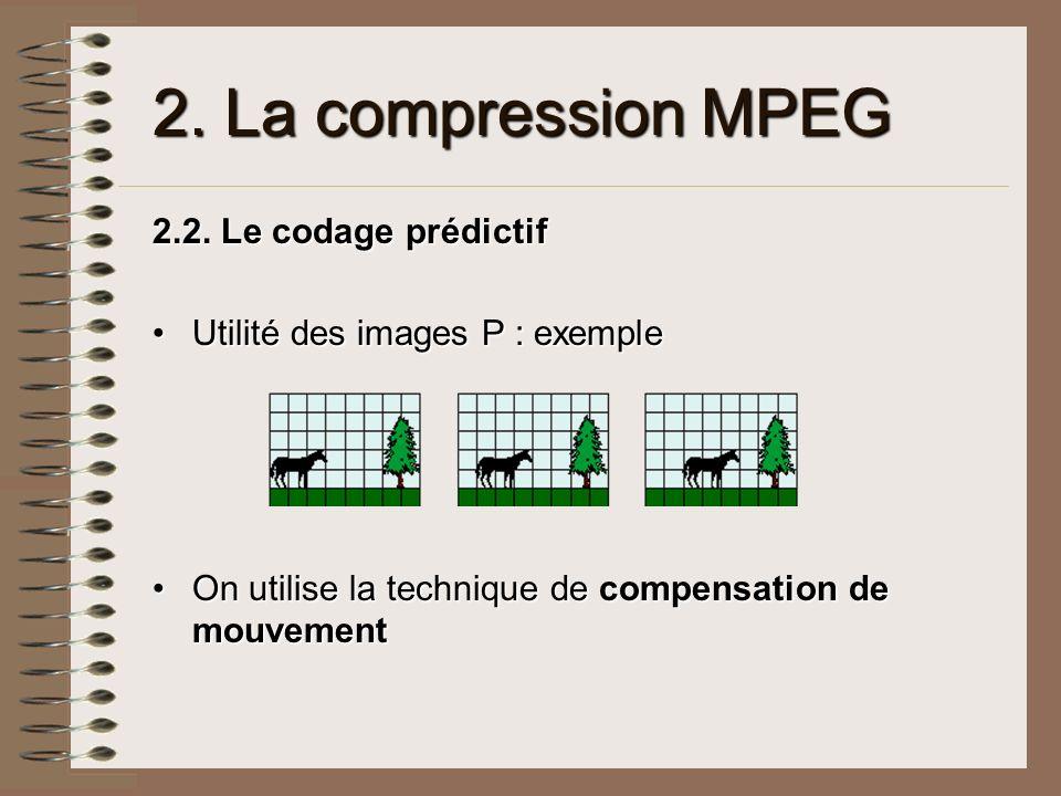 2. La compression MPEG 2.2. Le codage prédictif