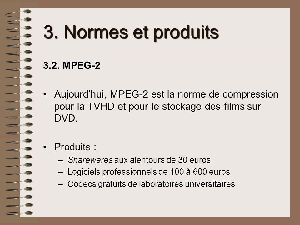 3. Normes et produits 3.2. MPEG-2