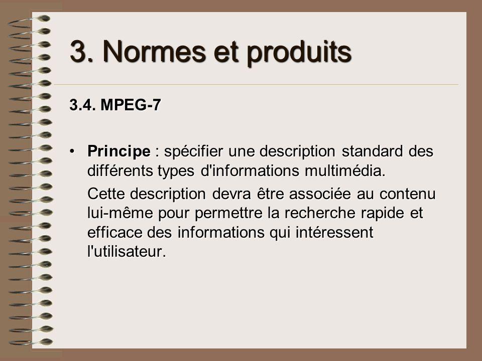 3. Normes et produits 3.4. MPEG-7