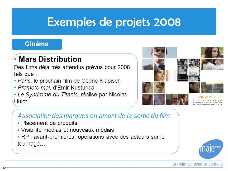 Exemples de projets 2008 Mars Distribution Cinéma