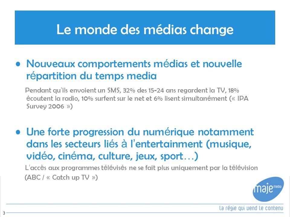 Le monde des médias change
