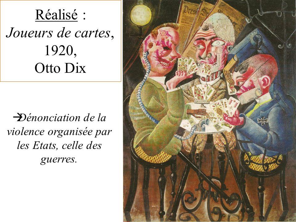 Réalisé : Joueurs de cartes, 1920, Otto Dix