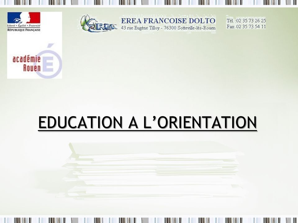 Education A l'Orientation