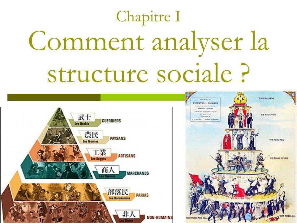 Chapitre I Comment analyser la structure sociale
