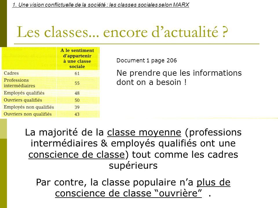 Les classes... encore d'actualité
